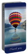 Thank You Hot Air Balloon In Alaska Portable Battery Charger