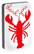 Thank You Lobster With Feelers Portable Battery Charger