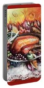 Thanksgiving Autumnal Collage Portable Battery Charger