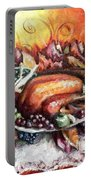 Thanksgiving Dinner Portable Battery Charger by Shana Rowe Jackson