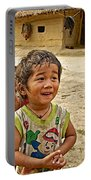 Tharu Village Children Love To Greet Us-nepal- Portable Battery Charger