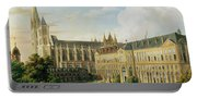 The Abbey Church Of Saint-denis And The School Of The Legion Of Honour In 1840 Oil On Canvas Portable Battery Charger