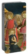 The Adoration Of The Kings And Christ On The Cross Portable Battery Charger