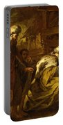 The Adoration Of The Magi Portable Battery Charger by Orazio de Ferrari