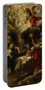 The Adoration Of The Shepherds Portable Battery Charger by Jan Cossiers