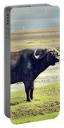 The African Buffalo. Ngorongoro In Tanzania. Portable Battery Charger