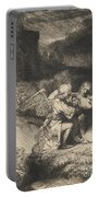 The Agony In The Garden Portable Battery Charger by Rembrandt