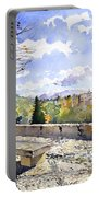 The Alhambra In Autumn Portable Battery Charger