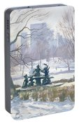 The Alice In Wonderland Statue, Central Park, New York Portable Battery Charger