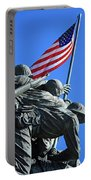 The American Flag Atop Mount Suribachi -- The Iwo Jima Memorial Portable Battery Charger