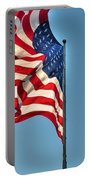 The American Flag No Retreat No Surrender  Portable Battery Charger