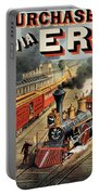 The American Railway Scene  Portable Battery Charger by Currier and Ives