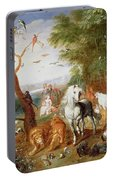 The Animals Entering Noahs Ark Panel Portable Battery Charger