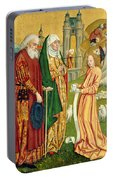 The Annunciation To Joachim And Anne, From The Dome Altar, 1499 Portable Battery Charger