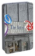 The Art Of Disney Signage Selective Coloring Digital Art Portable Battery Charger