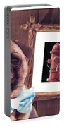 The Artist And His Masterpiece Portable Battery Charger by Edward Fielding