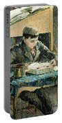 The Artists Son Portable Battery Charger by Camille Pissarro