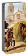 The Baker And The Straw Seller, 1840 Portable Battery Charger