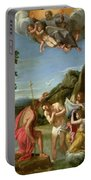 The Baptism Of Christ - Francesco Albani 1660 Portable Battery Charger