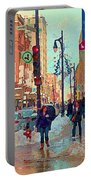 The Bay Department Store Downtown Montreal University And St Catherine Winter City Scene C Spandau  Portable Battery Charger