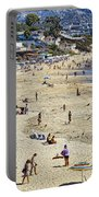 The Beach At Laguna Portable Battery Charger