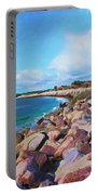 The Beach At Ponce Inlet Portable Battery Charger by Deborah Boyd