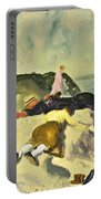 The Beach Newport Portable Battery Charger by George Wesley Bellows