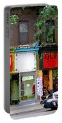 The Beadery Craft Shop  Queen Textiles Fabric Store Downtown Toronto City Scene Paintings Cspandau  Portable Battery Charger