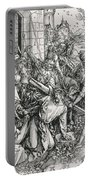 The Bearing Of The Cross From The 'great Passion' Series Portable Battery Charger by Albrecht Duerer