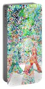 The Beatles - Abbey Road - Watercolor Painting Portable Battery Charger