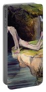 The Beautiful Narcissus Portable Battery Charger by Honore Daumier