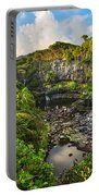The Beautiful Scene Of The Seven Sacred Pools Of Maui. Portable Battery Charger