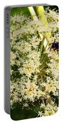 The Bee And The Flowers At Troldhaugen Portable Battery Charger