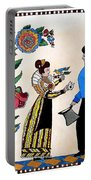 The Betrothal-folk Art Portable Battery Charger