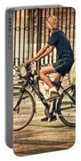 The Bicycle Rider - Leon Spain Portable Battery Charger