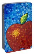 The Big Apple - Red Apple By Sharon Cummings Portable Battery Charger