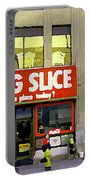 The Big Slice Pizzeria Downtown Toronto Restaurants Doner Kebob House Street Scene Painting Cspandau Portable Battery Charger