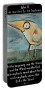 The Bird Is The Word Is The Bird Portable Battery Charger