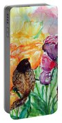 The Birds Of Spring Shower Blessings On You Portable Battery Charger