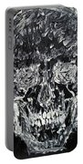 The Black Skull - Oil Portrait Portable Battery Charger