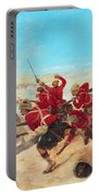 The Black Watch At The Battle Portable Battery Charger by Henri-Louis Dupray