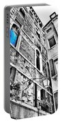 The Blue Window In Venice - Italy Portable Battery Charger