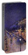 The Boulevard Montmartre At Night Portable Battery Charger