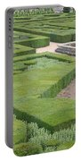 The Boxwood Garden At Chateau Villandry Portable Battery Charger