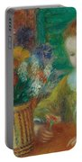 The Breakfast Porch Portable Battery Charger by William James Glackens