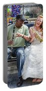 The Bride Plays The Trumpet- Destination Wedding New Orleans Portable Battery Charger