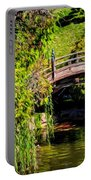 The Bridge In The Japanese Garden Portable Battery Charger