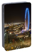 The Brighton Wheel At Night Portable Battery Charger