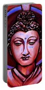 The Buddha In Red And Gold Portable Battery Charger