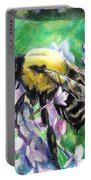 The Busy Bee And The Lilac Tree Portable Battery Charger